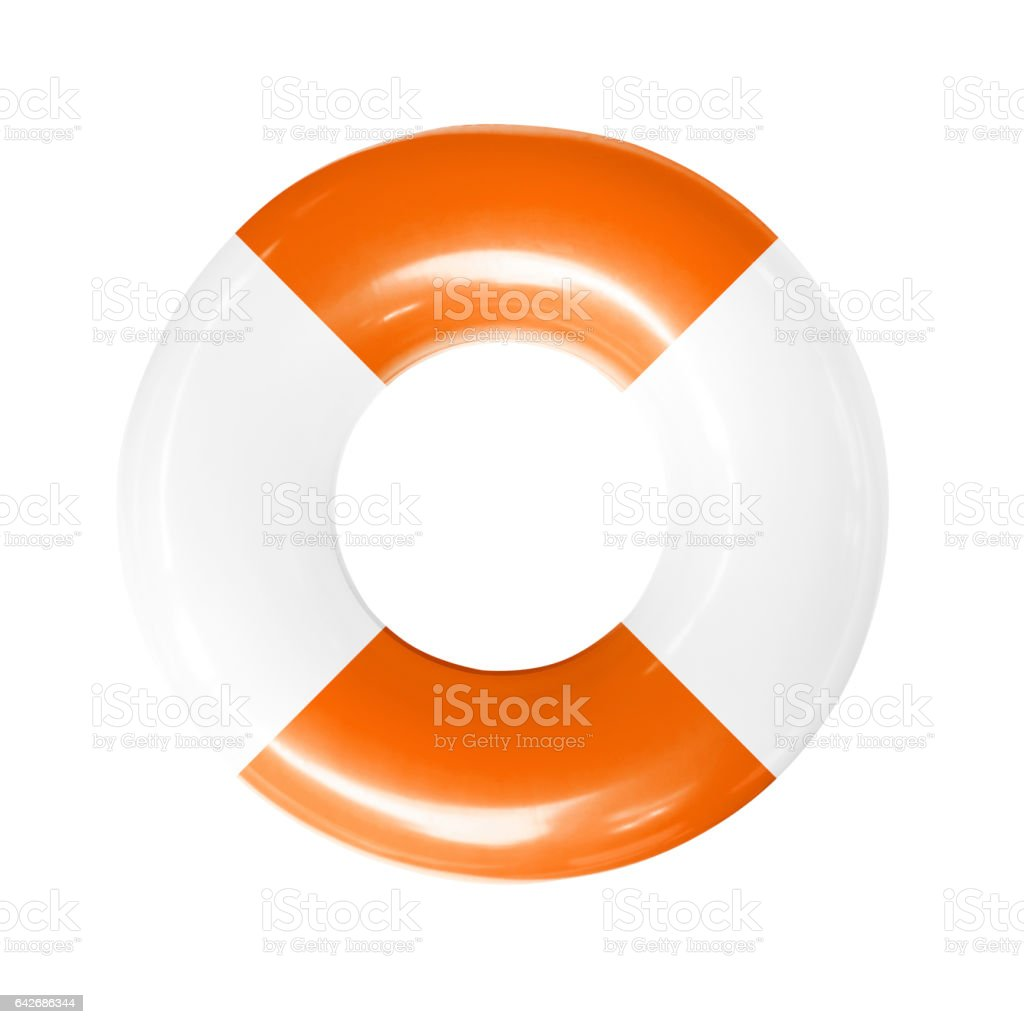 life buoy isolated stock photo