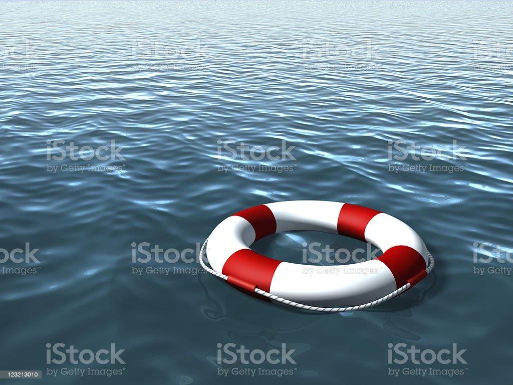 Life Buoy on the sea stock photo