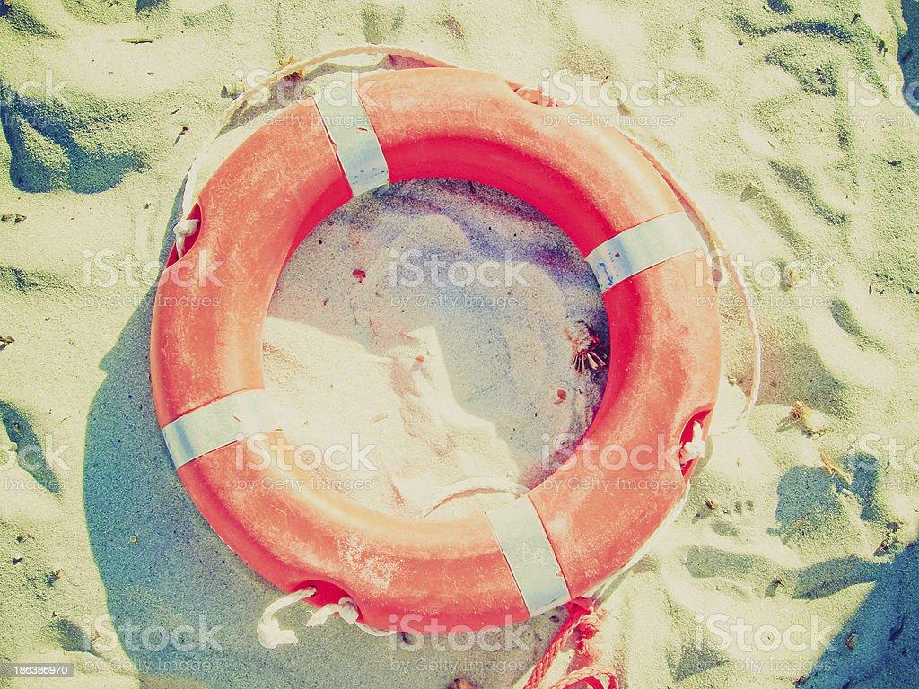 Life buoy retro looking stock photo