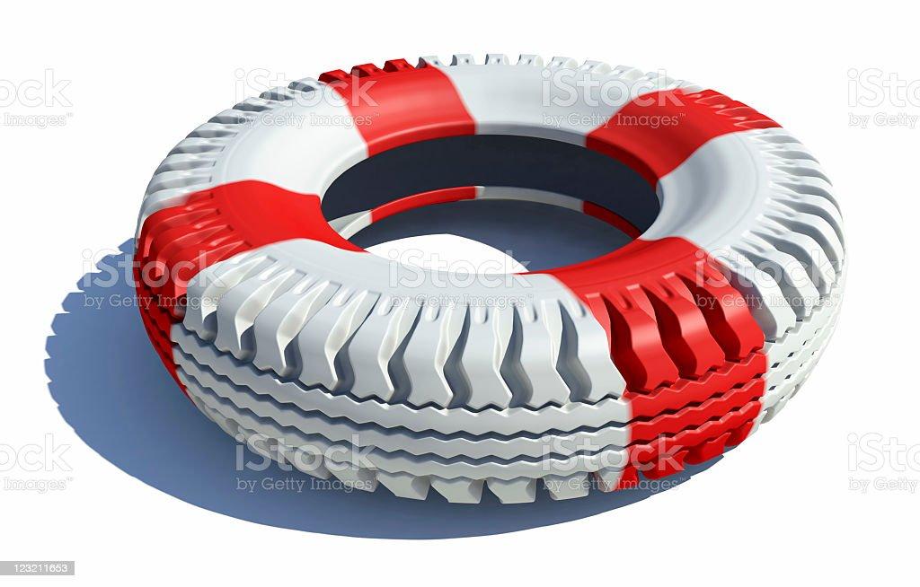 Life buoy tire royalty-free stock photo