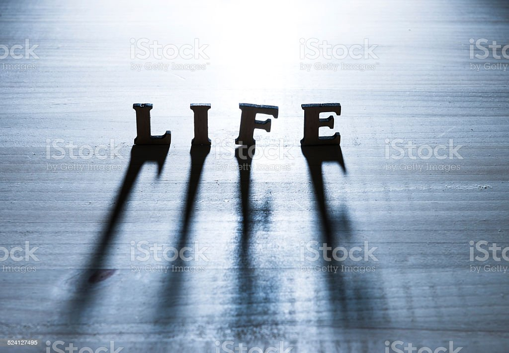 Life concept and shadow stock photo