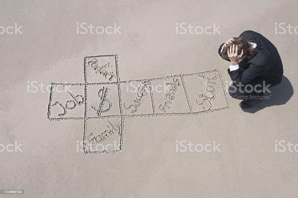 Life decisions hopscotch stock photo