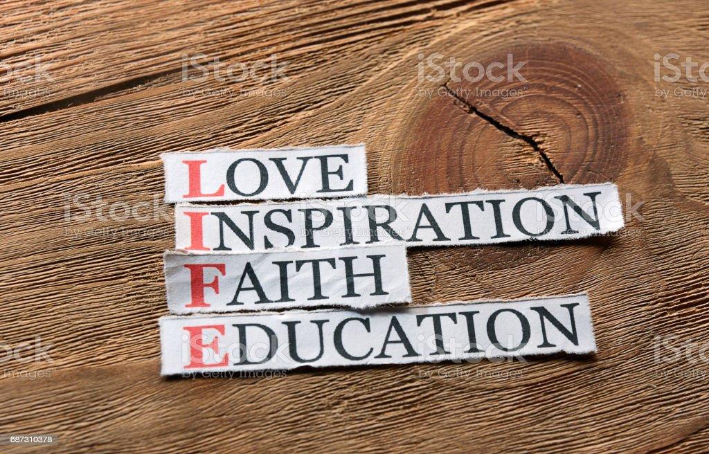 life education  inspiration stock photo