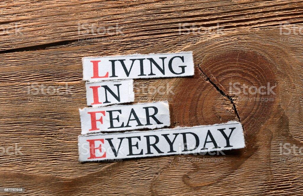 life fear  inspiration stock photo