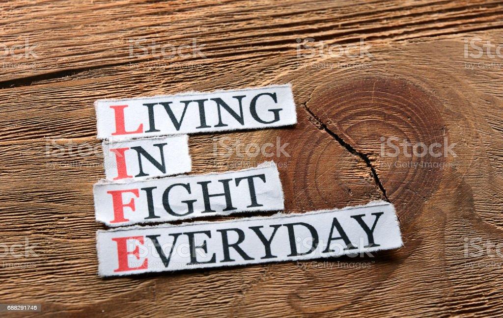 life fight  inspiration stock photo