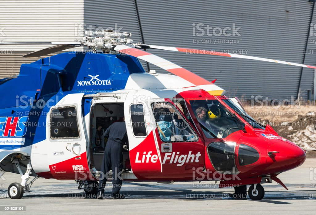 Life Flight EHS Helicopter stock photo