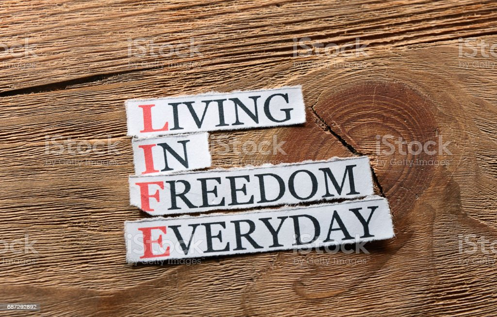 life freedom  inspiration stock photo