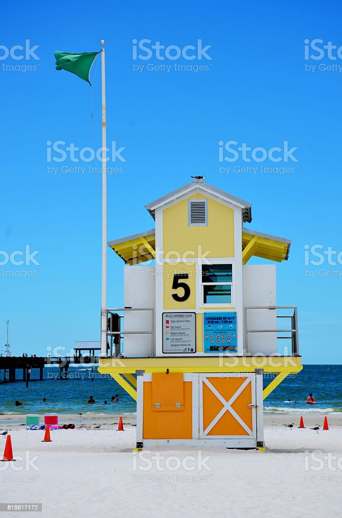 Life Guarding on the Beach stock photo