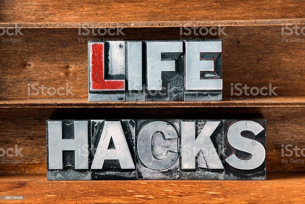 life hacks tray stock photo