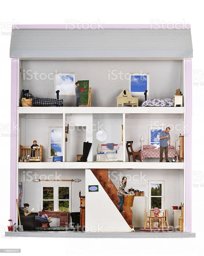 Life in a Doll House stock photo