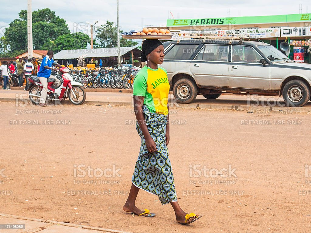 Life in african town. royalty-free stock photo
