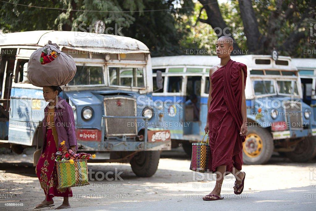 Life in Amarapura, Myanmar royalty-free stock photo
