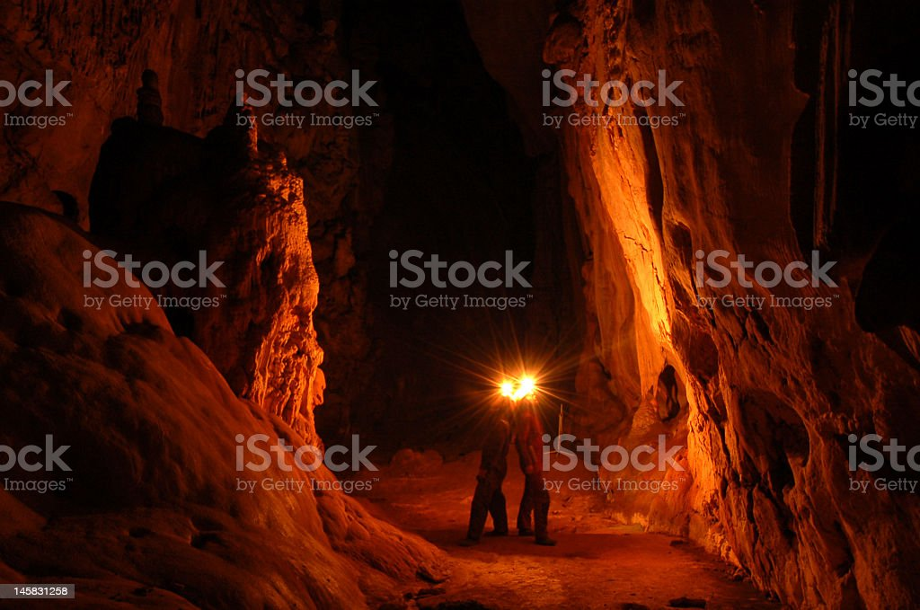 Life in cave stock photo
