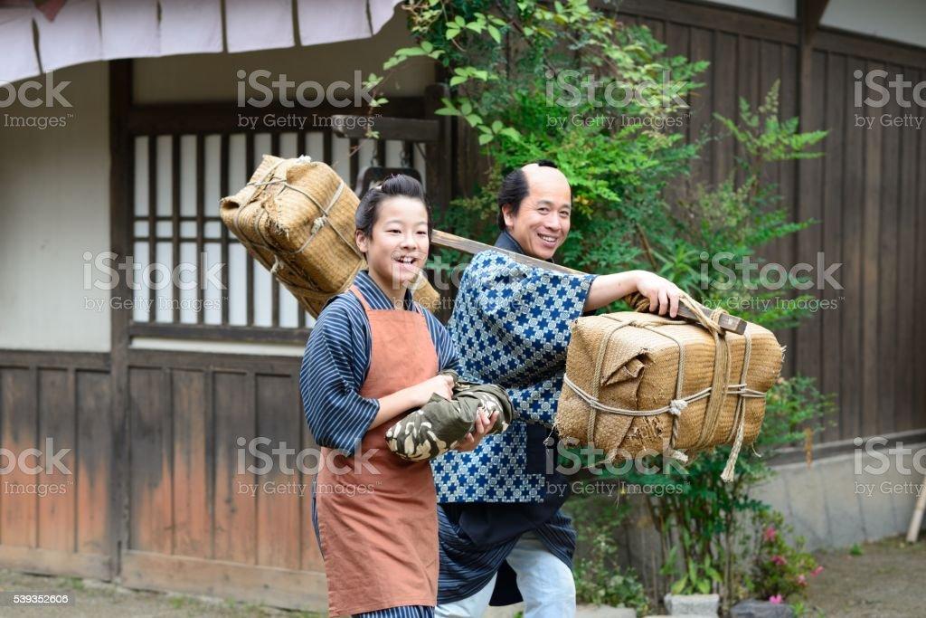 Life in Edo stock photo
