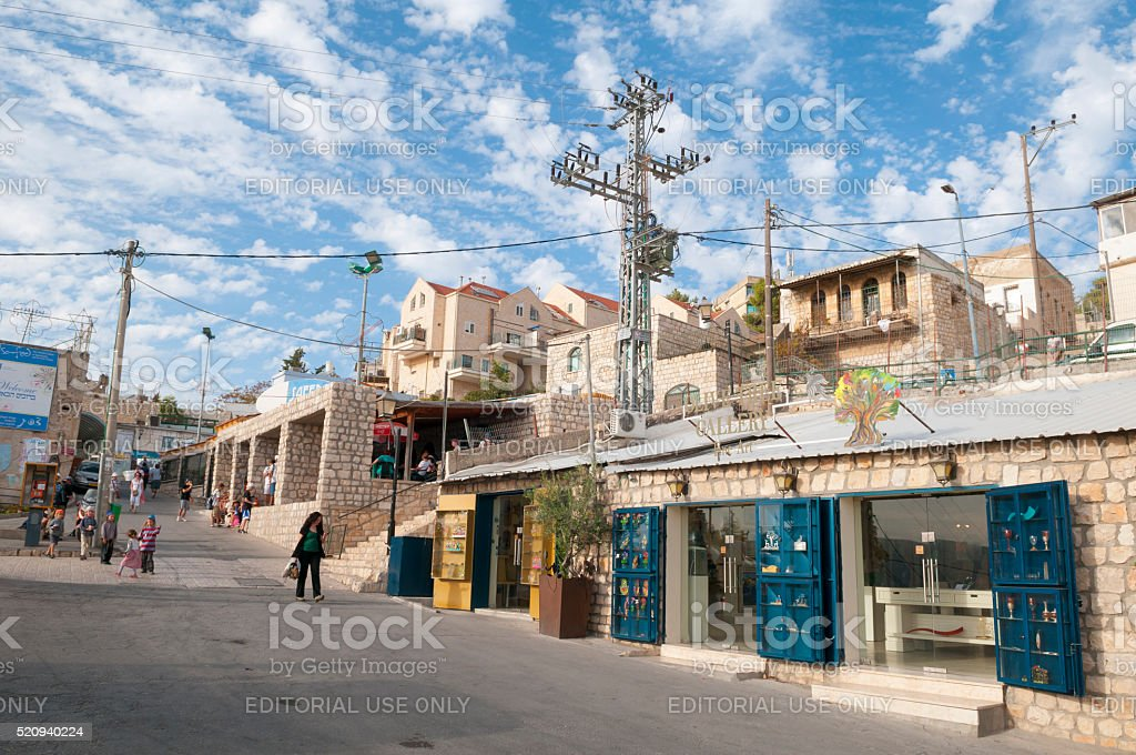 Life in Safed, israel stock photo