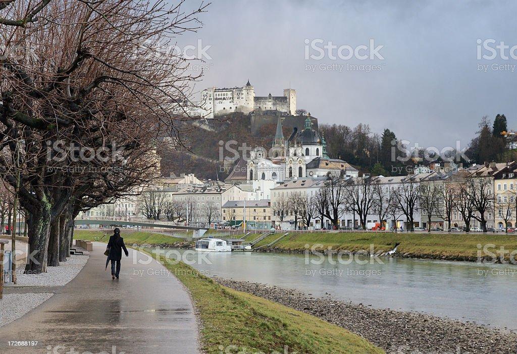 Life in Salzburg stock photo