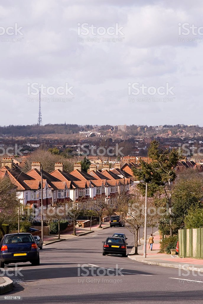 Life in the suburbs royalty-free stock photo