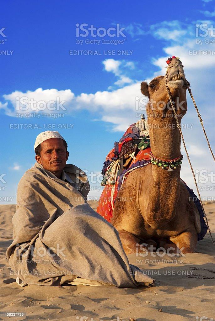 Life in the Thar Desert royalty-free stock photo