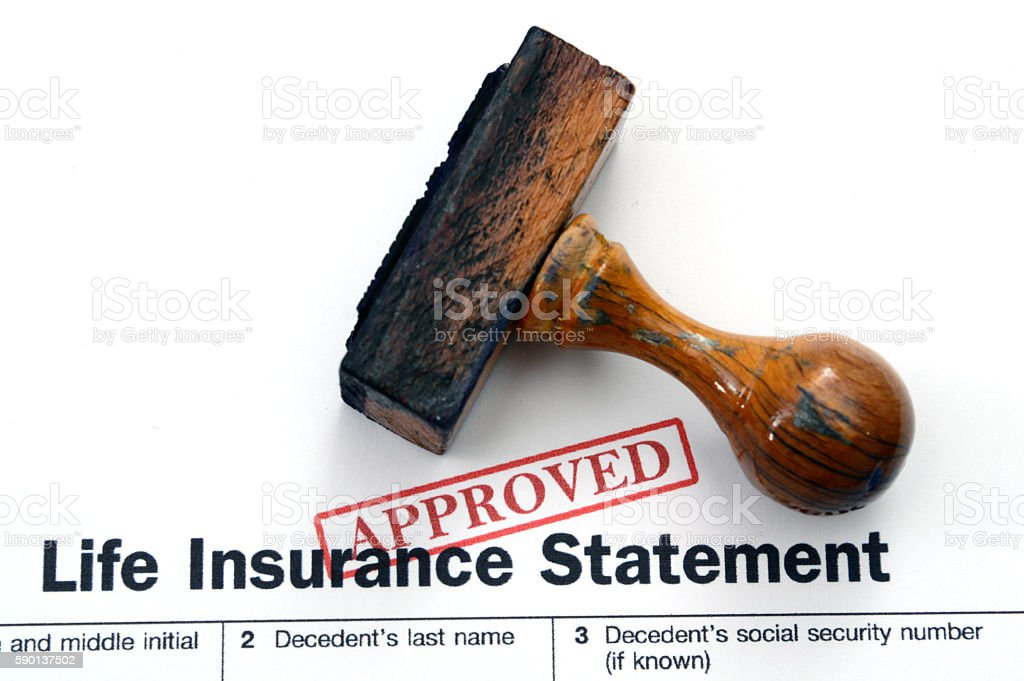 Life insurance - approved stock photo