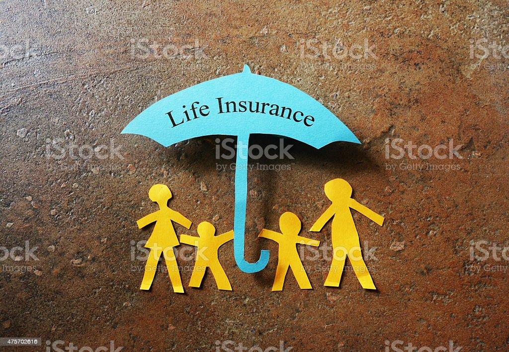 Life Insurance paper family stock photo