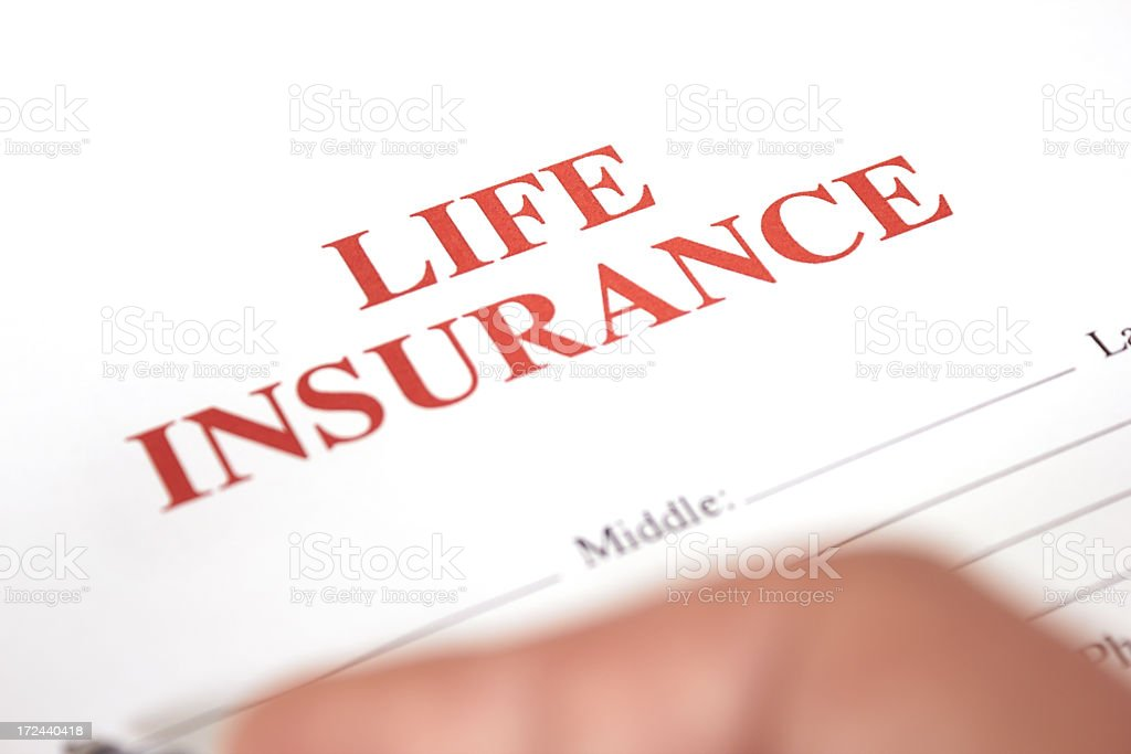 Life insurance royalty-free stock photo