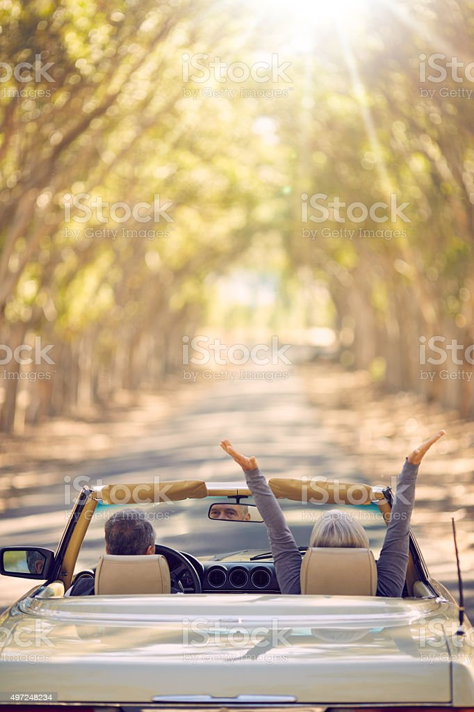 Life is a journey, complete it stock photo