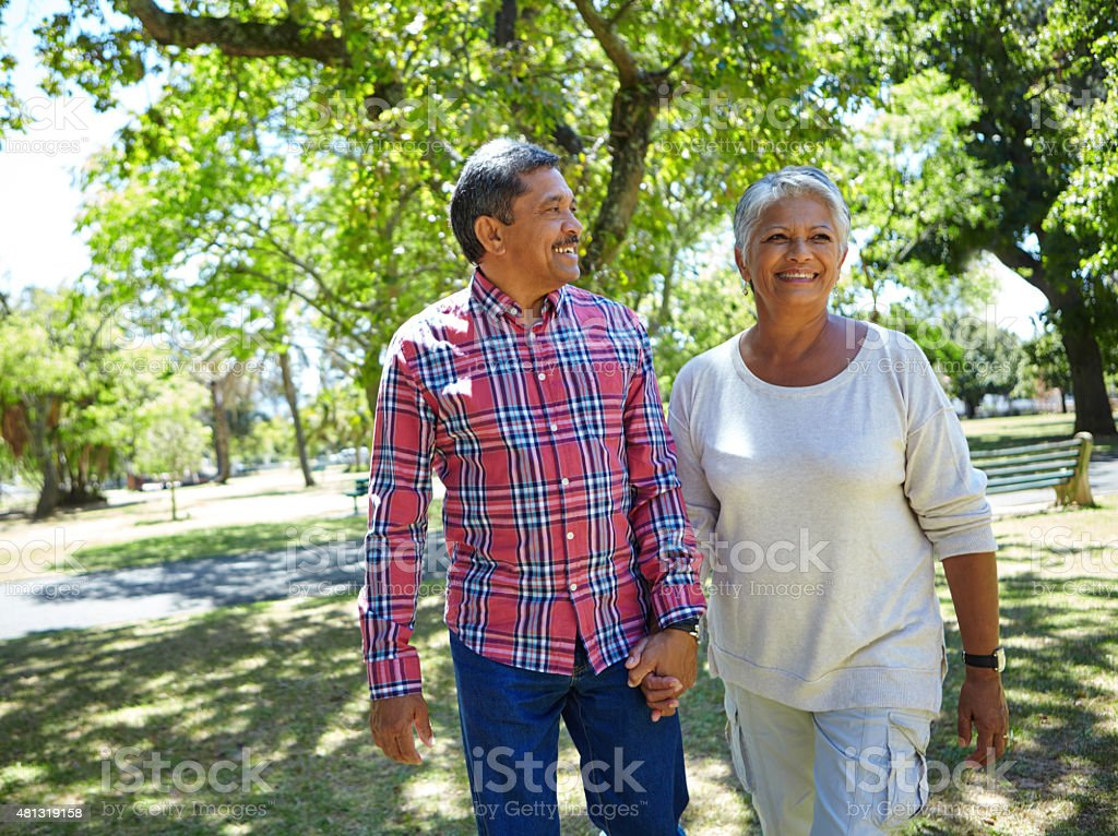 Life is a walk in the park! stock photo