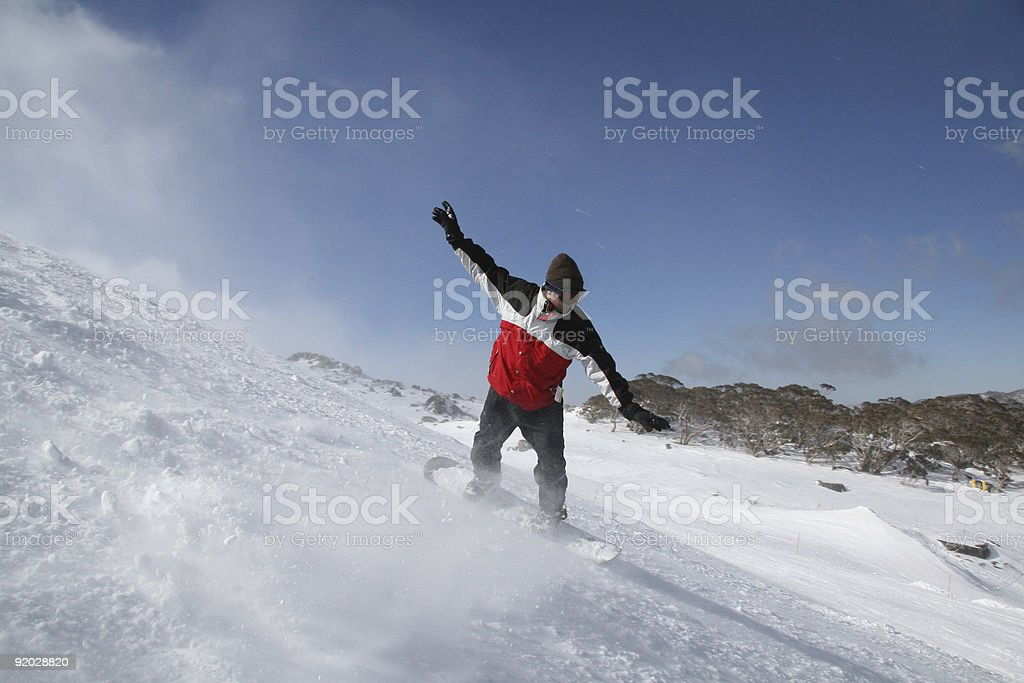 Life is beautiful. Snowboarding royalty-free stock photo