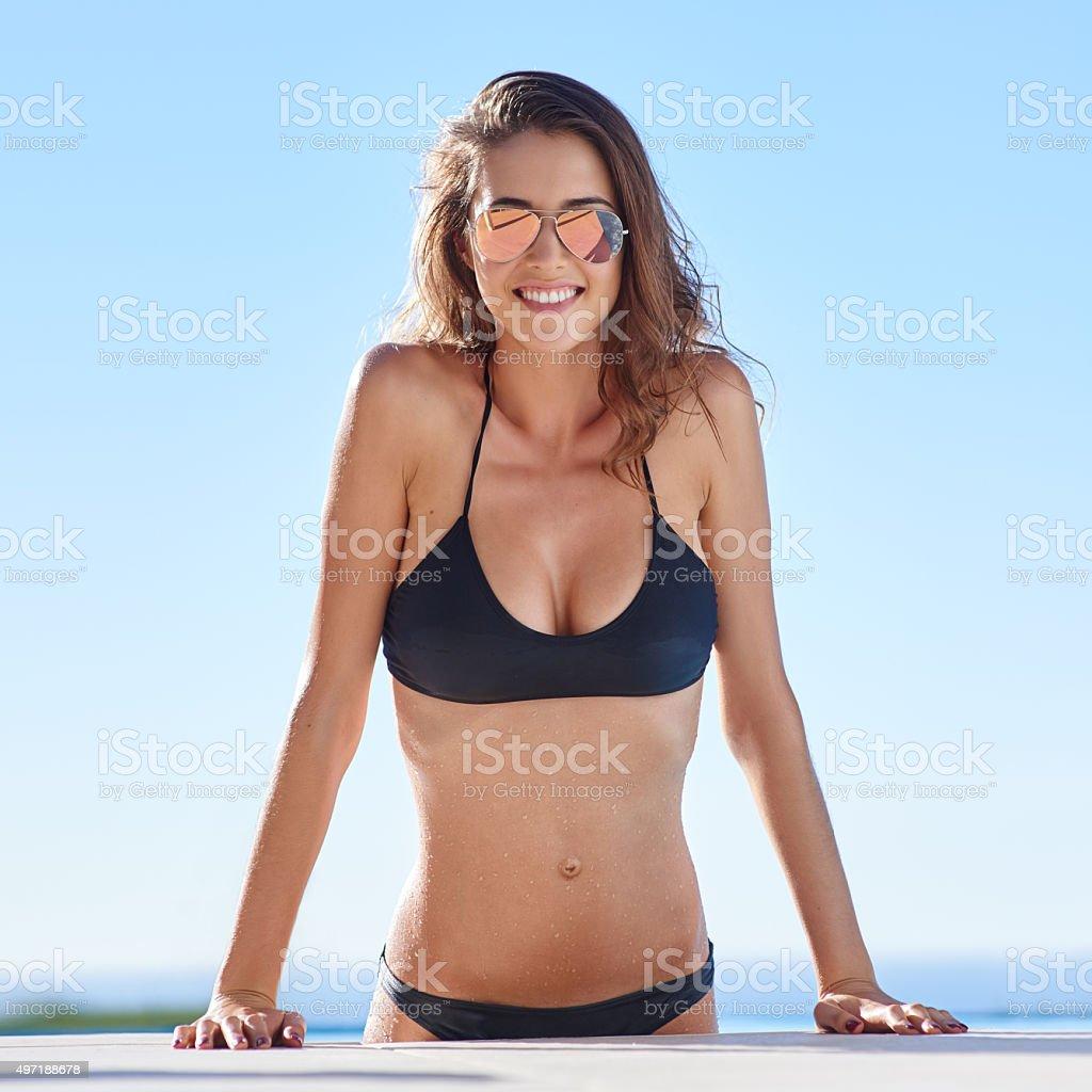 Life is better in a bikini stock photo