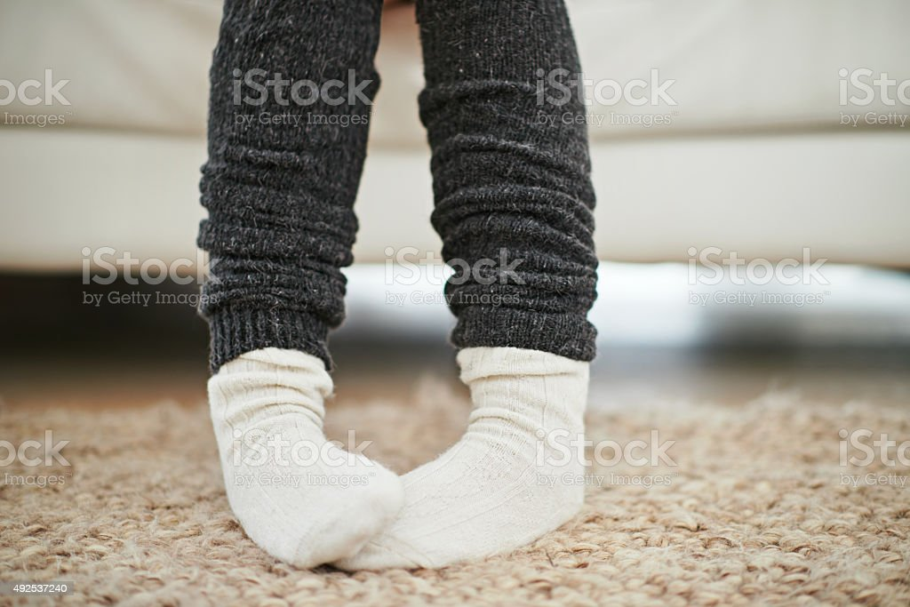 Life is better in socks stock photo