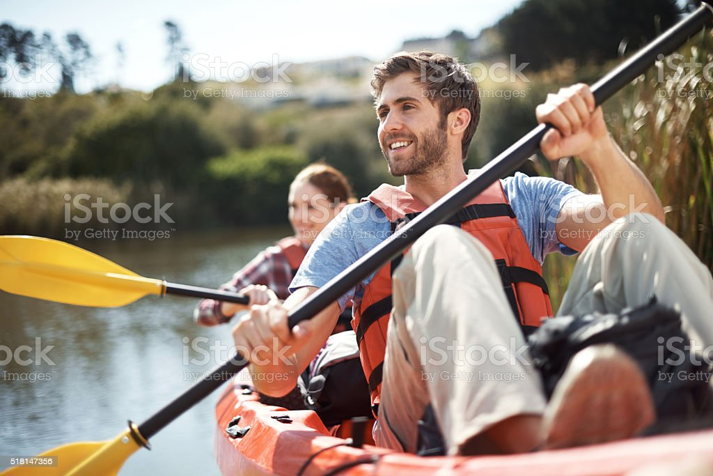 Life is better with an oar! stock photo