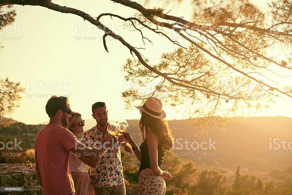 Life is better with friends stock photo