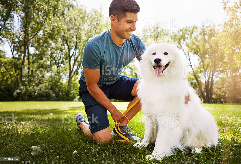 Life is good with a faithful friend by your side stock photo