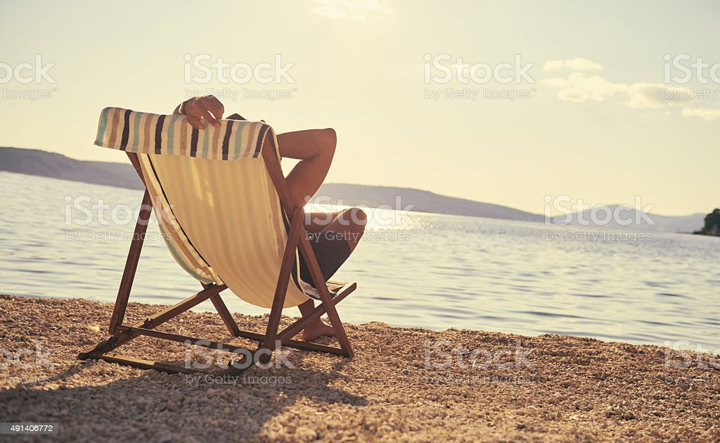 Life is just better at the beach stock photo