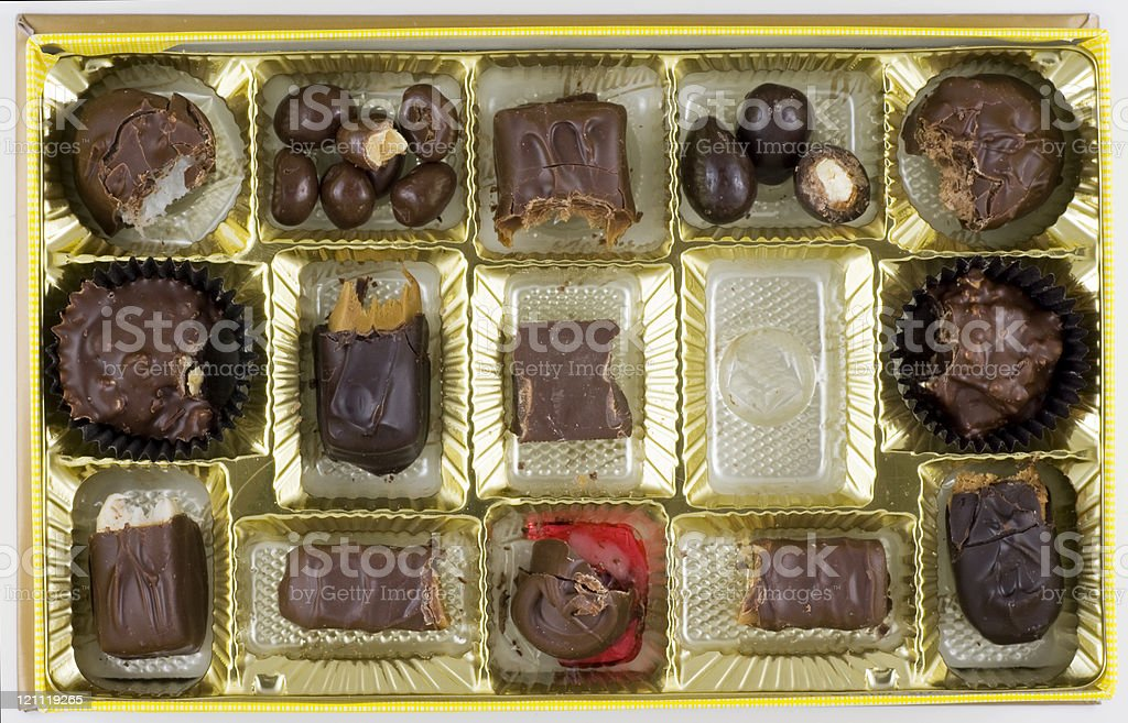 Life is Like a Box of Chocolates royalty-free stock photo