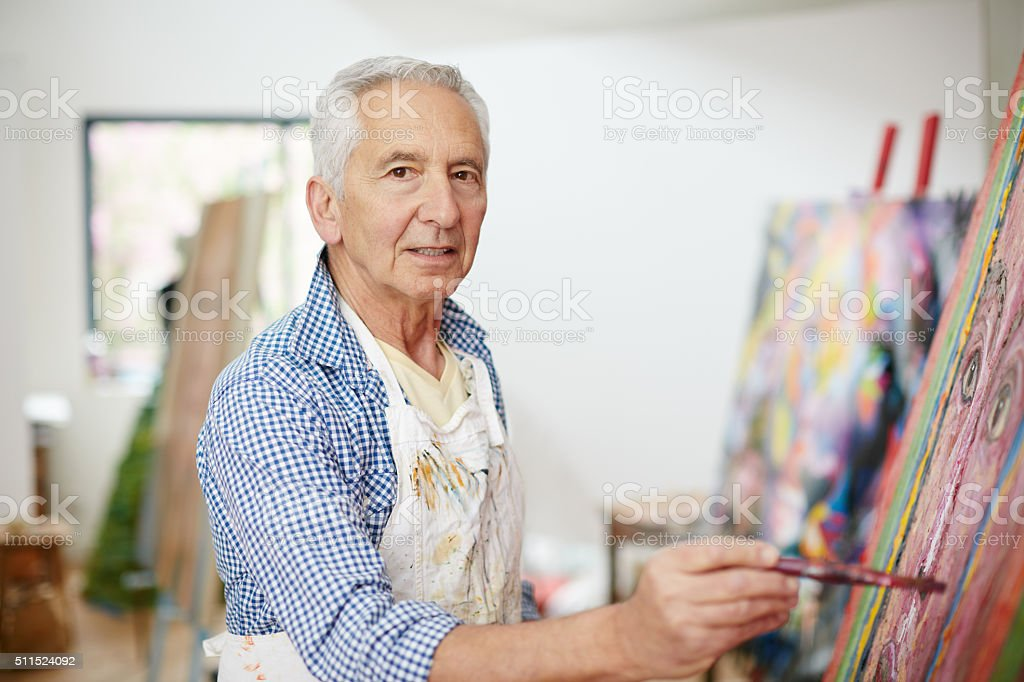 Life isn't about finding yourself, it's about creating yourself stock photo