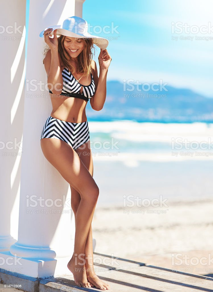 Life isn't perfect, but your bikinis can be stock photo
