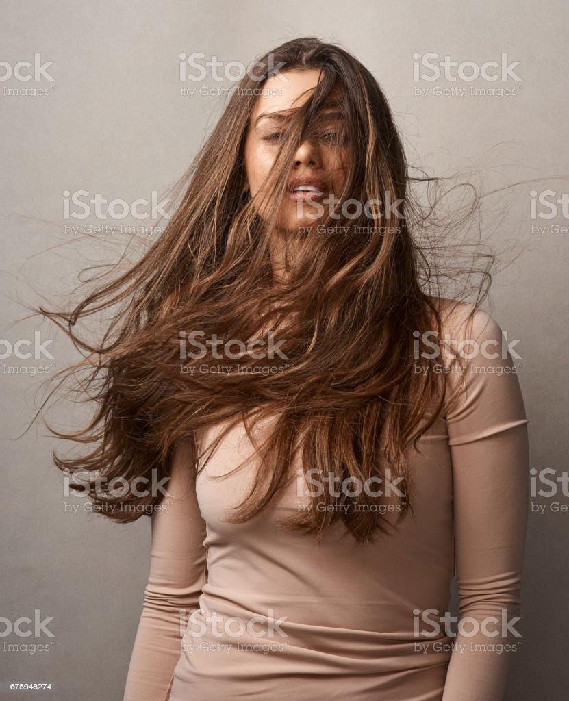 Life isn't perfect, but your hair can be stock photo