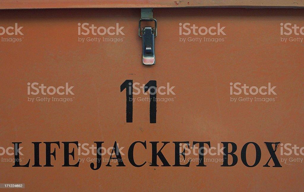 Life jacket box royalty-free stock photo