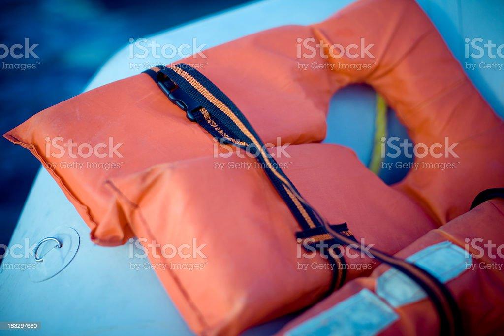 Life Jacket of Raft royalty-free stock photo