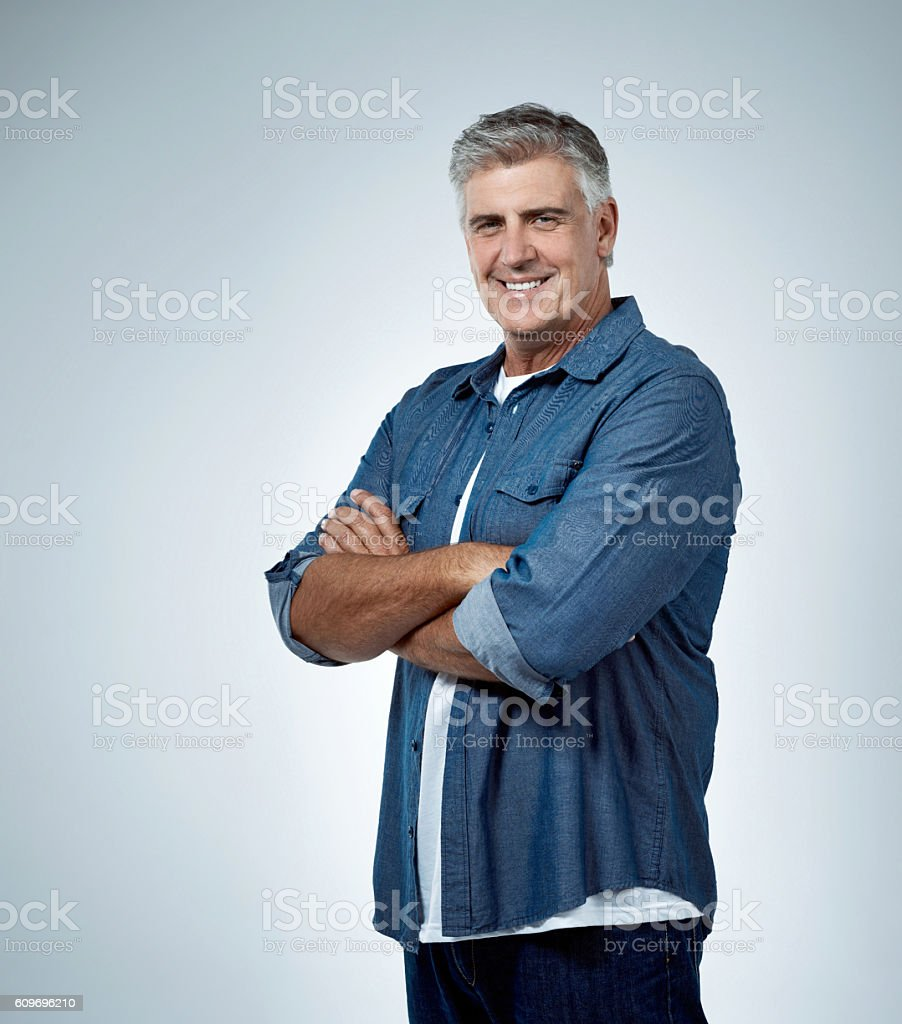 Life just gets better as I get older stock photo
