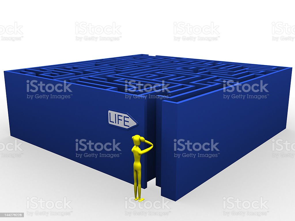Life labyrinth royalty-free stock photo