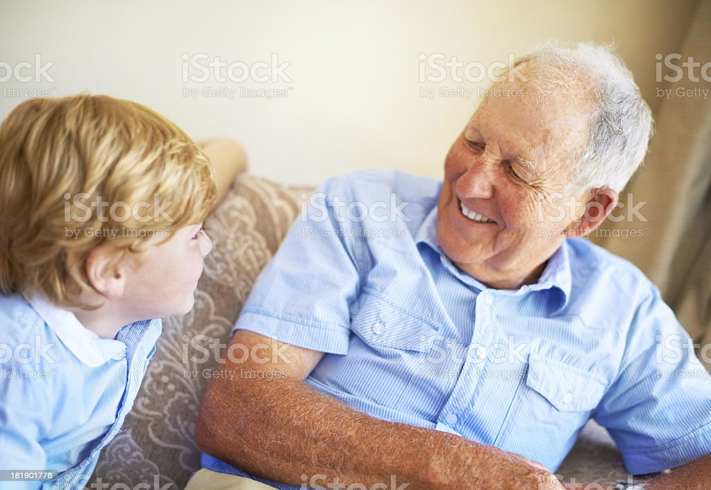 Life lessons from his grandfather royalty-free stock photo
