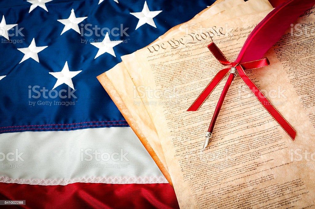 Life, Liberty and the pursuit of Happiness. stock photo