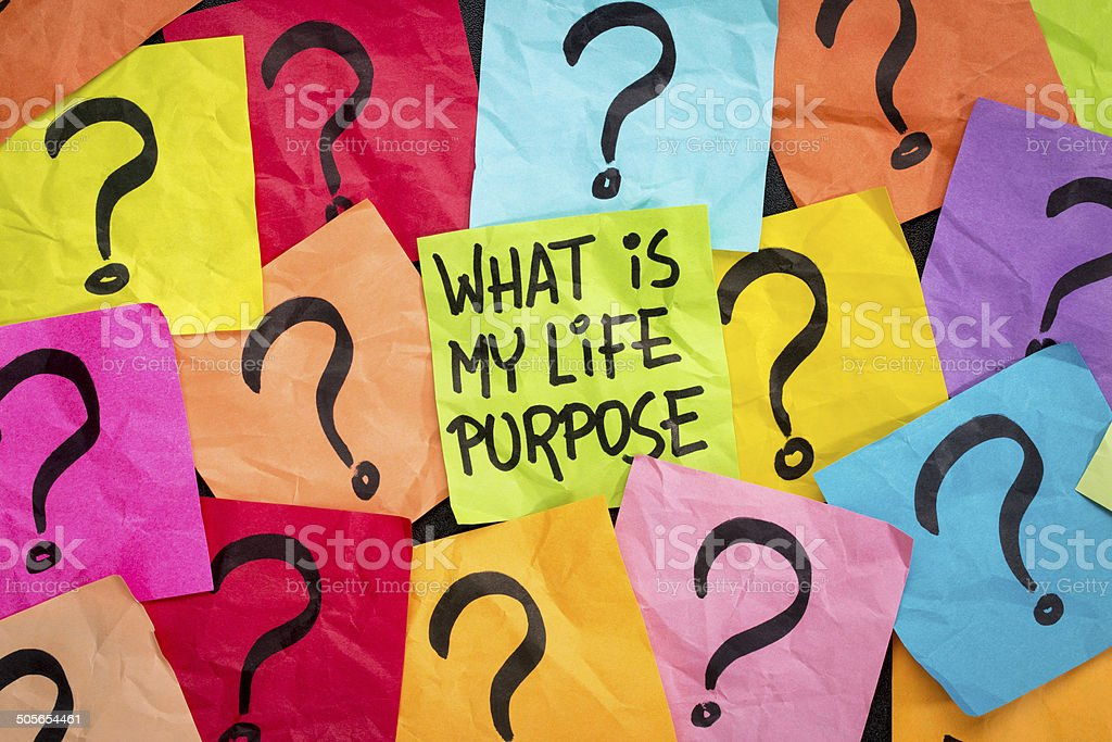 life meaning concept and purpose stock photo
