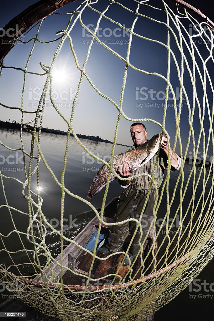 Life Of A Fisherman royalty-free stock photo