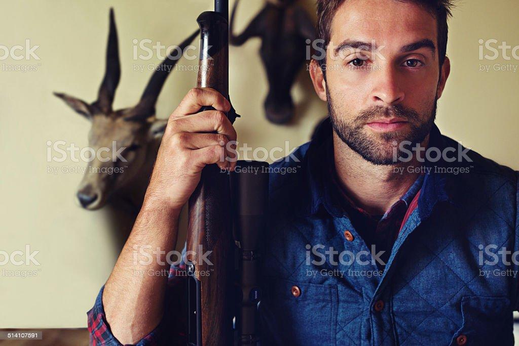 Life of a hunter stock photo