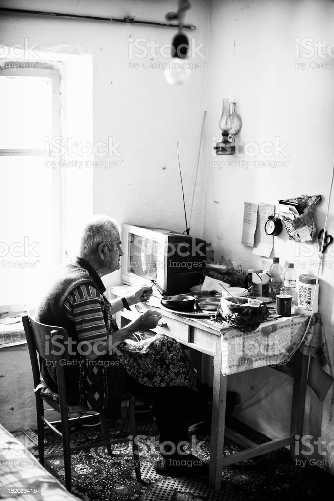 Life of an old man stock photo