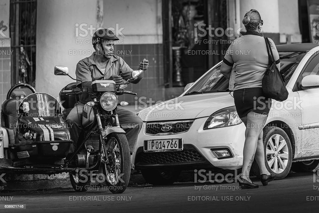 Life on Havana street stock photo