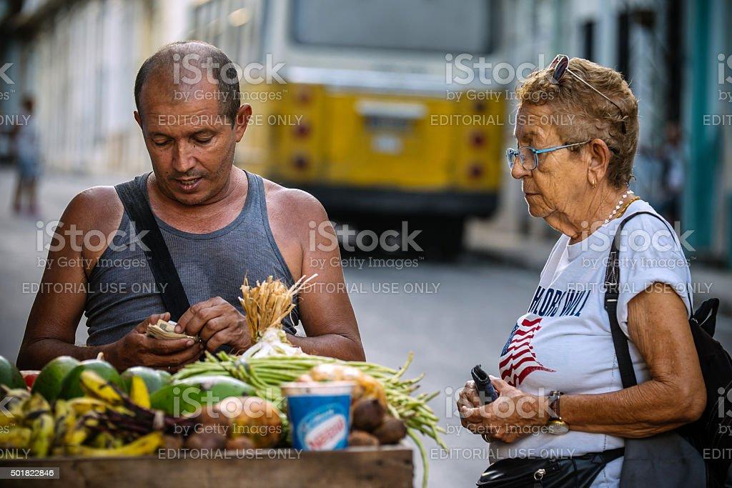 Life on Havana streets stock photo